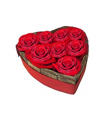 Coração 9 Rosas