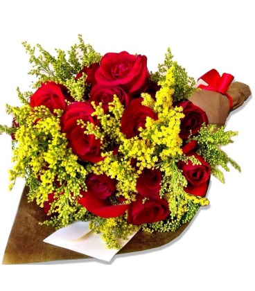 Buquê 20 Rosas papel